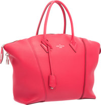 Louis Vuitton Framboise Red Veau Cachemire Leather Soft Lockit MM Bag Excellent to Pristine Condition