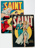 Golden Age (1938-1955):Crime, The Saint #4 and 5 Group (Avon, 1948).... (Total: 2 Comic Books)