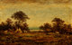 Ralph Albert Blakelock (American, 1847-1919) Indian Encampment Oil on panel 15-1/4 x 25 inches (38.7 x 63.5 cm) Sign