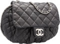 "Luxury Accessories:Bags, Chanel Black Quilted Lambskin Leather Large Chain Around CrossbodyBag. Very Good Condition. 15"" Width x 11"" Height x..."
