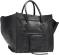 """Luxury Accessories:Bags, Celine Black Alligator Embossed Leather Phantom Luggage Tote Bag.Very Good Condition. 12"""" Width x 11"""" Height x 10.5"""" Dept..."""