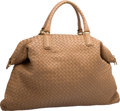 "Luxury Accessories:Bags, Bottega Veneta Beige Intrecciato Nappa Leather Convertible ToteBag. Excellent Condition. 21"" Width x 14"" Height x 9""Dept..."
