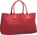 "Luxury Accessories:Bags, Bottega Veneta Red Intrecciato Woven Nappa Leather Cabat Tote Bag,13/1000. Excellent to Pristine Condition. 16""Width..."