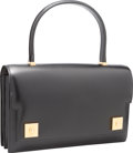 Luxury Accessories:Bags, Hermes Black Calf Box Leather Sac Piano Bag with Gold Hardware.A Square, 1997. Very Good to Excellent Condition....