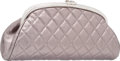 "Luxury Accessories:Bags, Chanel Metallic Silver Quilted Distressed Leather Timeless ClutchBag with Silver Hardware. Excellent Condition. 11""W..."