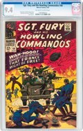 Silver Age (1956-1969):War, Sgt. Fury and His Howling Commandos #40 (Marvel, 1967) CGC NM 9.4 Off-white to white pages....