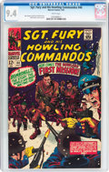 Silver Age (1956-1969):War, Sgt. Fury and His Howling Commandos #44 (Marvel, 1967) CGC NM 9.4 White pages....