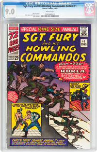 Sgt. Fury and His Howling Commandos Annual #1 (Marvel, 1965) CGC VF/NM 9.0 White pages