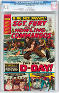 Silver Age (1956-1969):War, Sgt. Fury and His Howling Commandos Annual #2 (Marvel, 1966) CGC NM- 9.2 White pages....