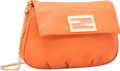 "Luxury Accessories:Bags, Fendi Orange Leather Cross-Body Bag. Excellent to PristineCondition. 9"" Width x 6"" Height x 2"" Depth. ..."