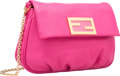"""Luxury Accessories:Bags, Fendi Pink Leather Cross Body Bag. Pristine Condition. 9""""Width x 6"""" Height x 2"""" Depth. ..."""