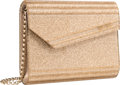 """Luxury Accessories:Bags, Jimmy Choo Gold Glitter Acrylic Evening Bag. PristineCondition. 6.5"""" Width x 5"""" Height x 1.25"""" Depth. ..."""
