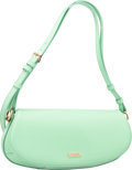 """Luxury Accessories:Bags, Burberry Mint Patent Leather Shoulder Bag. ExcellentCondition. 13"""" Width x 6"""" Height x 3"""" Depth. ..."""