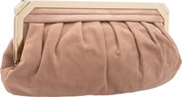 "Bally Tan Suede Clutch Bag Excellent to Pristine Condition 14"" Width x 7"" Height x 2"" Depth</"
