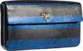 "Luxury Accessories:Bags, Prada Blue & Black Sequin Clutch Bag. PristineCondition. 9.5"" Width x 5"" Height x 1.5"" Depth. ..."