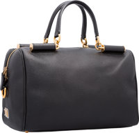 "Dolce & Gabbana Black Leather Sicily East West Tote Bag Very Good Condition 12.5"" Width x 8"" Heig"