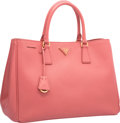 "Luxury Accessories:Bags, Prada Pink Saffiano Leather Tote Bag. Pristine Condition.14"" Width x 10"" Height x 6"" Depth. ..."