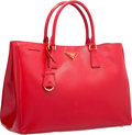 "Luxury Accessories:Bags, Prada Red Patent Saffiano Leather Tote Bag . ExcellentCondition. 14"" Width x 10"" Height x 6"" Depth. ..."