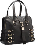 "Luxury Accessories:Bags, Jimmy Choo Black Leather Blythe Bag. Excellent Condition.14"" Width x 11"" Height x 7"" Depth. ..."