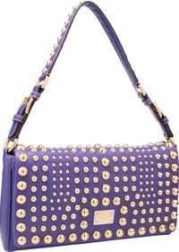 Dolce & Gabbana Purple Leather Shoulder Bag with Gold Hardware Excellent to Pristine Condition 12
