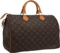 "Luxury Accessories:Accessories, Louis Vuitton Classic Monogram Canvas Speedy 35 Bag. Good toVery Good Condition. 15"" Width x 7.5"" Height x 9.5""Depth..."