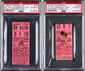 Baseball Collectibles:Tickets, 1956 & 1973 Roberto Clemente Significant Pittsburgh PiratesTicket Stubs Lot of 2.. ...