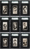 "Non-Sport Cards:Sets, 1937 Sinclair ""Film Stars"" (Series 1) SGC Graded Complete Set (54)...."