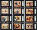 Non-Sport Cards:Sets, 1937 R172 Gum Inc. Wild West Series Complete Set (49). ...