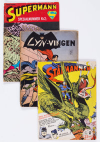 Norwegian Comic Book Group of 12 (c. 1950s-60s) Condition: FR/GD.... (Total: 12 Comic Books)