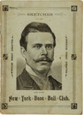 Baseball Collectibles:Others, 1887 Sketches of the New York [Giants] Base Ball Club....