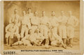 Baseball Collectibles:Photos, 1882 New York Metropolitans Team Cabinet Photograph....