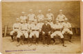 Baseball Collectibles:Photos, (Circa.) 1887 New York Giants Team Cabinet Photograph....