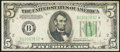 Small Size:Federal Reserve Notes, Fr. 1959-B* $5 1934C Wide Federal Reserve Star Note. Very Fine.. ...