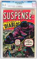 Silver Age (1956-1969):Horror, Tales of Suspense #9 (Marvel, 1960) CGC VG+ 4.5 Off-white to whitepages....