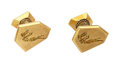 Estate Jewelry:Cufflinks, Gold Cuff Links, David Webb. ... (Total: 2 Items)
