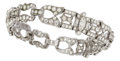 Estate Jewelry:Bracelets, Diamond, Platinum Bracelet, M. Waslikoff & Sons. ...
