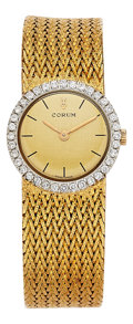 Estate Jewelry:Watches, Corum Lady's Diamond, Gold Watch. ...