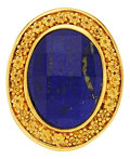 Estate Jewelry:Rings, Lapis Lazuli, Gold Ring, Patricia Makena. ...