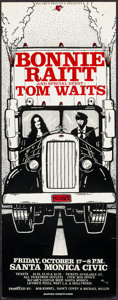 "Movie Posters:Rock and Roll, Bonnie Raitt and Tom Waits at McCabe's Guitar Shop (Bob Kimmel,Nancy Covey, Michael Miller, 1975). Concert Poster (8.25"" X ..."