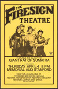 """Movie Posters:Rock and Roll, The Firesign Theatre: The Tale of the Giant Rat of Sumatra (KZSU,1974). Concert Poster (11.5"""" X 17.5""""). Rock and Roll.. ..."""