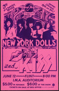 "Movie Posters:Rock and Roll, New York Dolls and KISS (Brass Ring & WABX, 1974). Concert Poster (11"" X 17""). Rock and Roll.. ..."