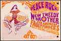 """Movie Posters:Rock and Roll, Peace Rock Benefit Featuring New Tweedy Brothers (Tom Storer forCongress, 1966). Concert Poster (11.5"""" X 17.5""""). Rock and R..."""