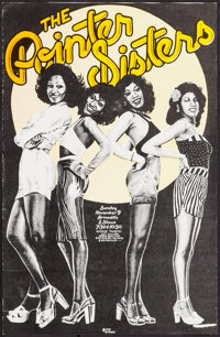 """The Pointer Sisters at Armadillo World Headquarters (Armadillo World Headquarters, 1975). Concert Poster (14"""" X 21..."""