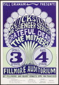 "Movie Posters:Rock and Roll, Quicksilver Messenger Service at Fillmore Auditorium (Bill Graham,1967). Second Printing Concert Poster (14"" X 20.25""). Roc..."