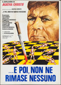 "Movie Posters:Mystery, Ten Little Indians (20th Century Fox, 1974). Italian 4 - Foglio(55.25"" X 77.25""). Mystery.. ..."
