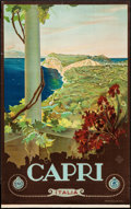 "Movie Posters:Miscellaneous, Capri, Italian Travel Poster by Mario Borgoni (ENIT, Late 1920s-Early 1930s). Travel Poster (25.75"" X 40.5""). Miscellaneous...."