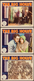 "Movie Posters:Drama, The Big House (MGM, 1930). Lobby Cards (3) (11"" X 14""). Drama.. ... (Total: 3 Items)"