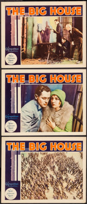 "The Big House (MGM, 1930). Lobby Cards (3) (11"" X 14""). Drama. ... (Total: 3 Items)"