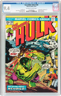 Bronze Age (1970-1979):Superhero, The Incredible Hulk #180 (Marvel, 1974) CGC NM 9.4 Off-white towhite pages....