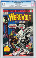 Bronze Age (1970-1979):Horror, Werewolf by Night #32 (Marvel, 1975) CGC NM- 9.2 Off-white to whitepages....